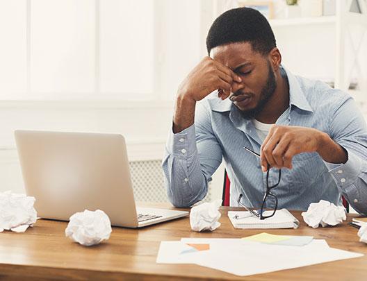 disengaged employee frustrated